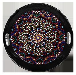 Fresno Mosaic Mandala Tray