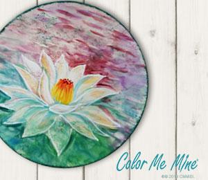 Fresno Lotus Flower Plate