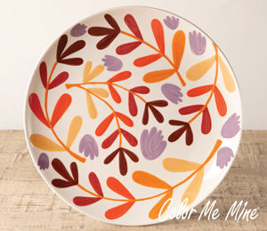 Fresno Fall Floral Charger