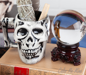 Fresno Antiqued Skull Mug